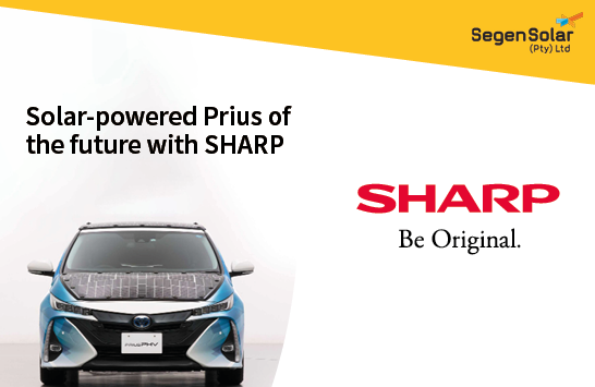 Sharp partners with Toyota for a solar-powered Prius