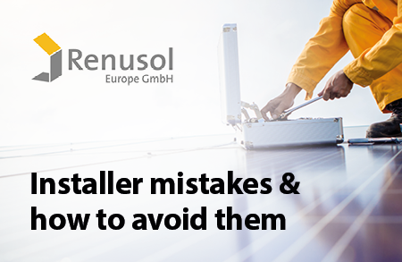 Renusol'sremedy to four common solar installer mistakes